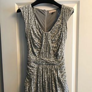 Rebecca Taylor size S Leopard ruched dress